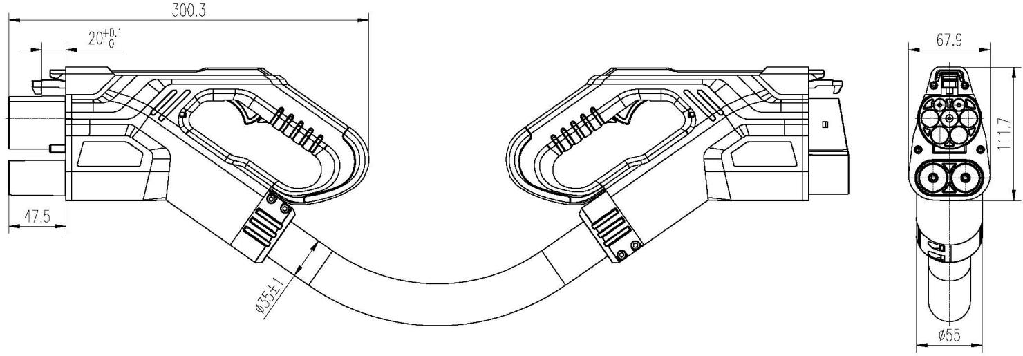 CCS 2 to CCS 1 Adapter