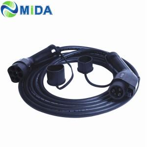 Cáp sạc 16A 32A SAE J1772 đến IEC 62196-2 EV Loại đầu nối loại 1 đến loại 2 EV
